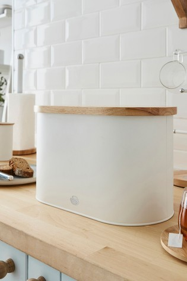 Nordic White Bread Bin by Swan