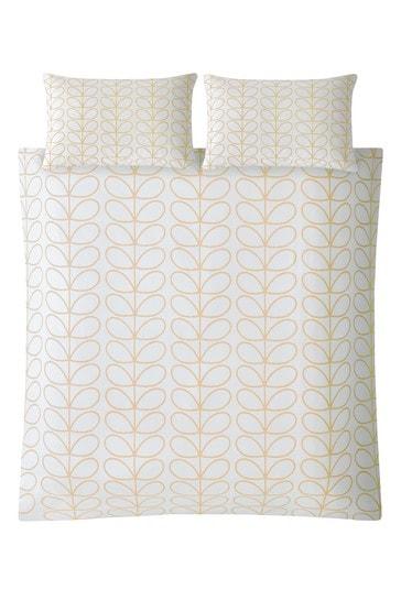 Orla Kiely Yellow Linear Stem Cotton Duvet Cover