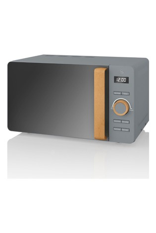 Nordic Grey Microwave by Swan