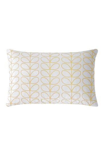 Set of 2 Orla Kiely Yellow Cotton Linear Stem Pillowcases