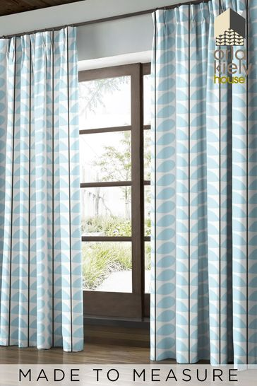 Orla Kiely Blue Two Colour Stem Made To Measure Curtains