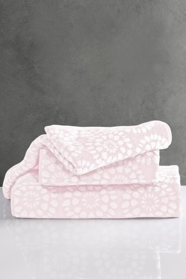 Pink Geo Egyptian Cotton Towels