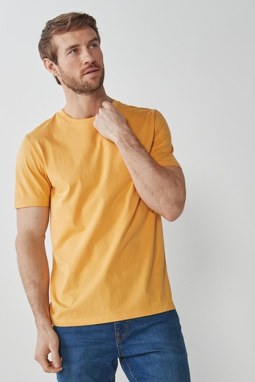 Yellow Regular Fit Crew Neck T-Shirt