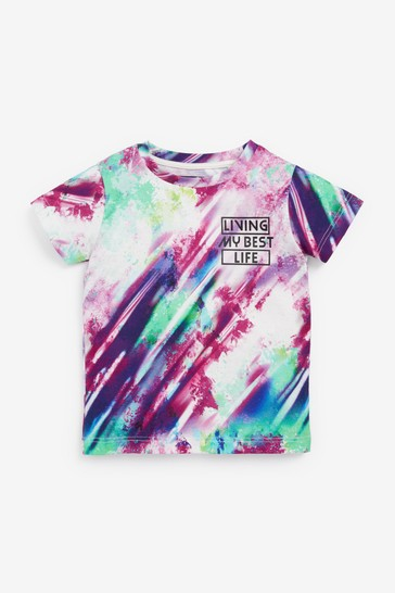 White Splat All Over Printed T-Shirt (3mths-7yrs)