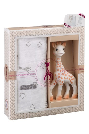 Sophie La Girafe Teether And Cotton Muslin Gift Set