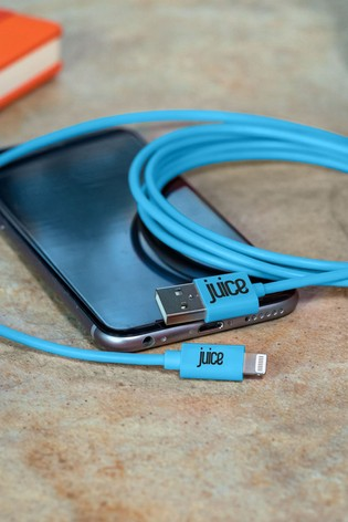 Juice Apple Lightning Charge Sync 2m Aqua Cable
