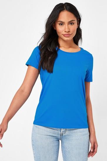 Cobalt Blue Crew Neck T-Shirt