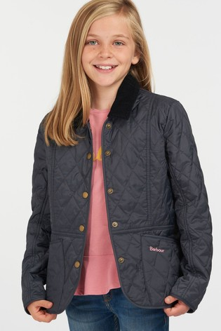 Barbour® Girls Printed Summer Liddesdale Quilted Jacket