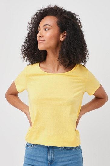 Lemon Yellow Crew Neck T-Shirt
