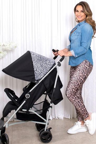 My Babiie Dreamiie Black Leopard Stroller