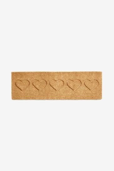 Extra Wide Heart Doormat