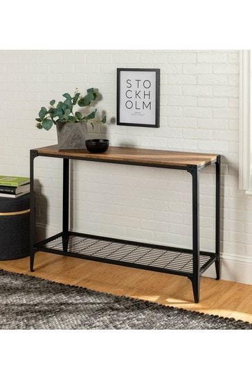 Banbury Designs Barnwood 44 Rustic Entryway Table
