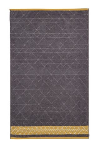 Catherine Lansfield Grey Linear Diamond Towel