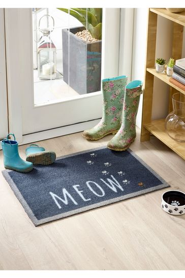 Howler & Scratch Meow Washable And Recycled Non Slip Doormat