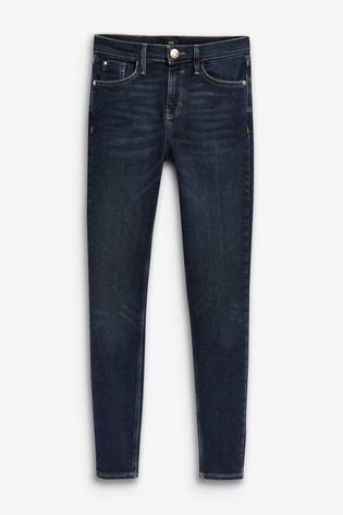 River Island Amelie Mid Rise Smokey Jeans