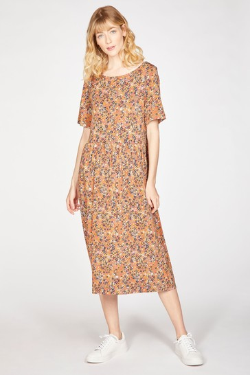 Thought Brown Antonia Fit And Flare Dress