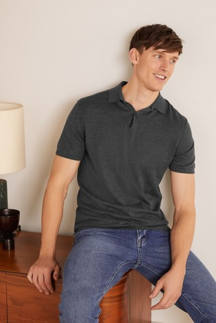 Boden Grey Finsbury Knitted Polo