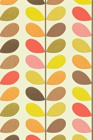 Orla Kiely Orange Multi Stem Wallpaper