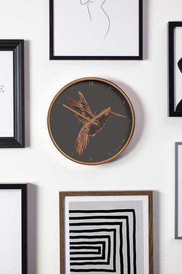 Jones Clocks Academy Copper Hummingbird Wall Clock