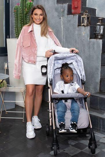 My Babiie Dreamiie Grey Marble Stroller