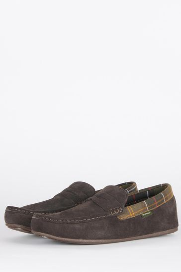Barbour Porterfield Suede Slippers