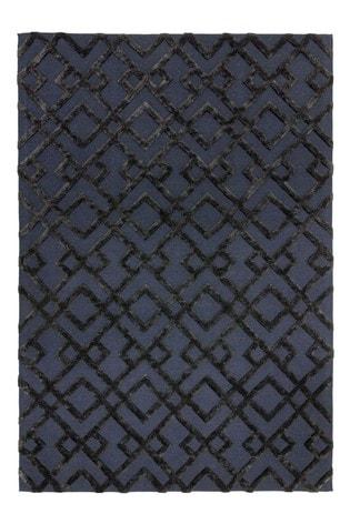 Asiatic Rugs Black Dixon Textured Geo Rug