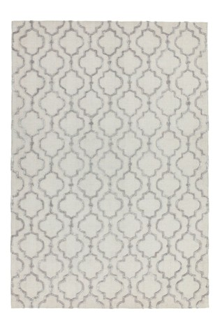 Asiatic Rugs Grey Dixon Textured Geo Rug
