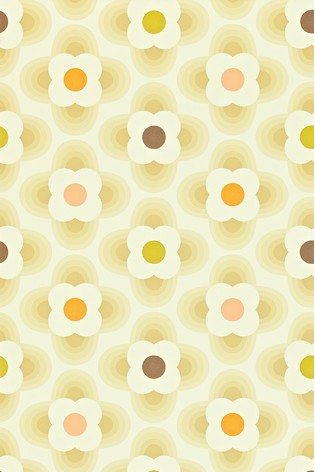 Orla Kiely Natural Multi Striped Petal Wallpaper