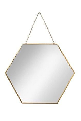 Oliver Bonas Hexagon Large Wall Mirror
