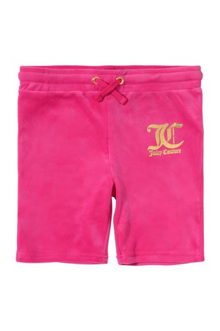 Juicy Couture Pink Velour Cycle Shorts