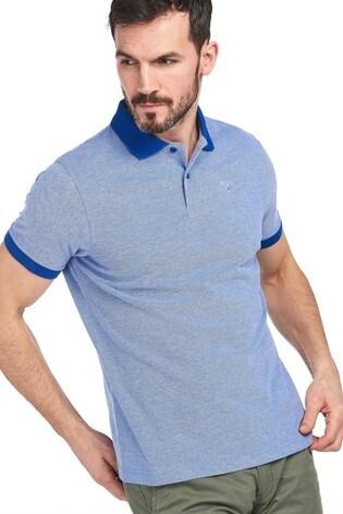 Barbour® Blue Sports Polo Mix Shirt