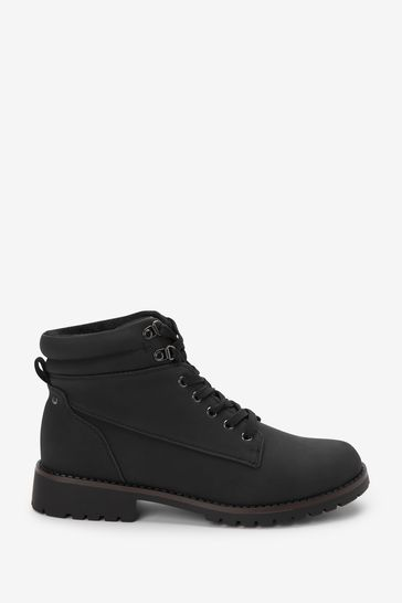 Black Regular/Wide Fit Forever Comfort® Casual Lace-Up Boots