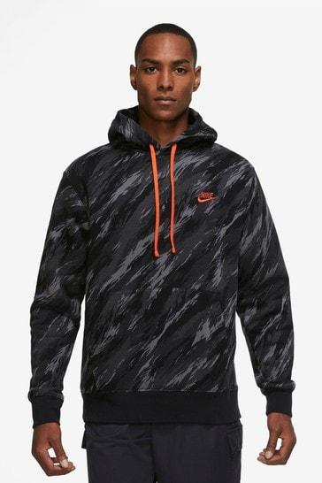 Nike Club Camo Print Hoodie
