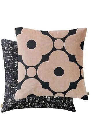 Orla Kiely Pink Spot Flower Velvet Cushion