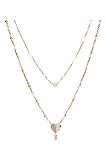 Fossil Rose Gold Vintage Glitz Necklace