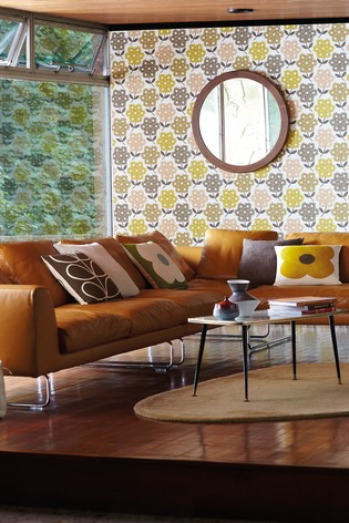 Orla Kiely Pink Rhodedendron Wallpaper