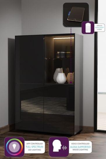 Frank Olsen Smart LED Black Display Cabinet