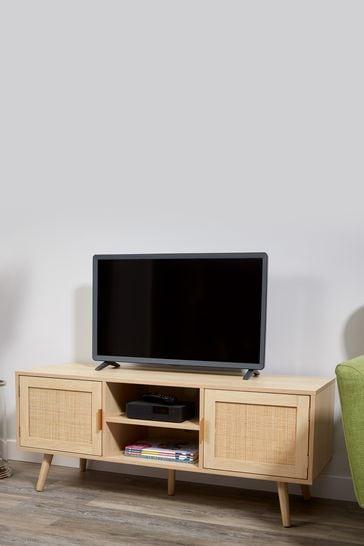 Light Rattan TV Table by Lloyd Pascal
