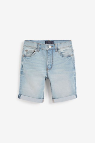 Light Blue Loose Fit Denim Shorts (3mths-16yrs)