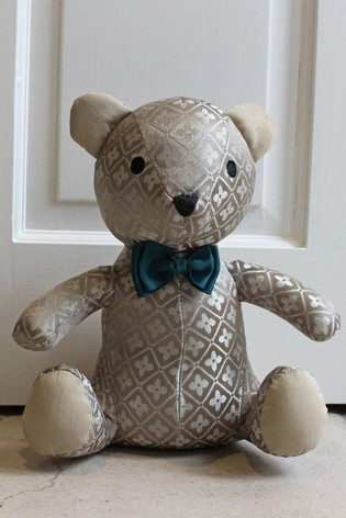 Jacquard Teddy Doorstop by Riva Home