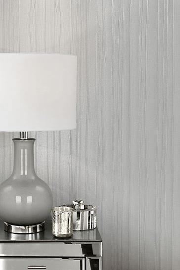 Muriva Grey Esther Texture Wallpaper