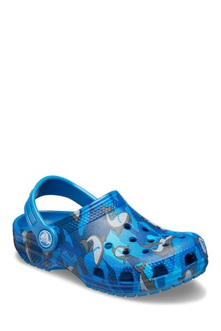 Crocs Blue Shark Classic Clogs