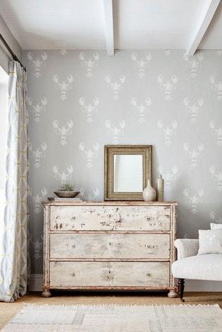 Sanderson Home Grey Cromer Wallpaper