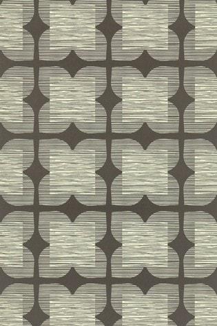 Orla Kiely Graphite Flower Tile Wallpaper