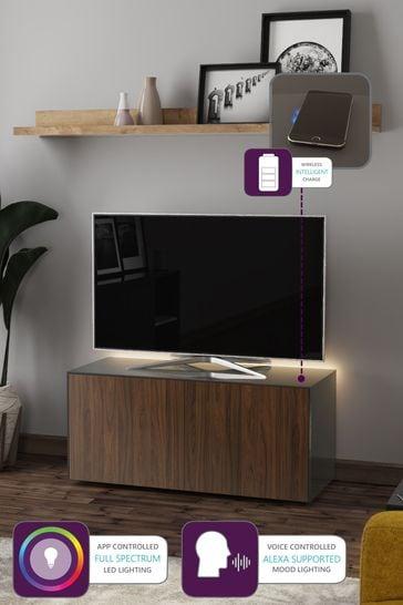 Frank Olsen Smart LED Grey Walnut TV Cabinet