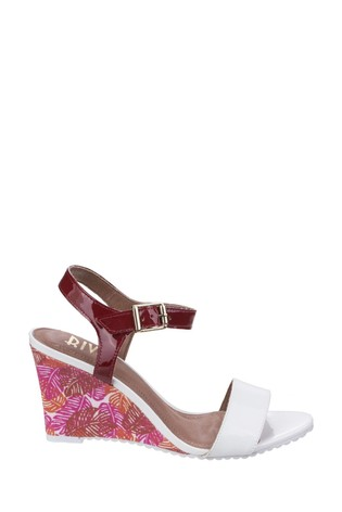 Riva White Elda Patent Ladies Sandals
