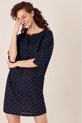 Monsoon Scarlett Spot Print Tunic Dress