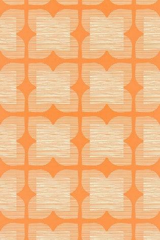 Orla Kiely Yellow Flower Tile Wallpaper