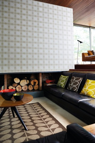 Orla Kiely Natural Flower Tile Wallpaper