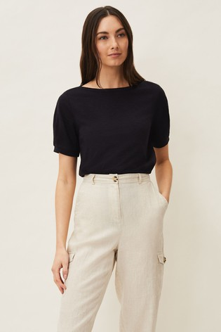 Phase Eight Blue Elspeth Puff Sleeve Top